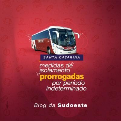 Imagem de capa do artigo: Medidas de isolamento em SC são prorrogadas por período indeterminado - Linha Joinville é afetada