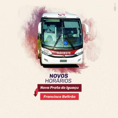 Imagem de capa do artigo: Novos horários - Linha Nova Prata do Iguaçu X Francisco Beltrão