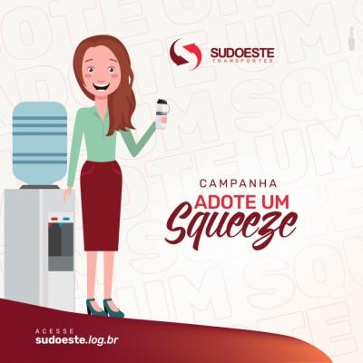 Imagem de capa do artigo: Sudoeste promove campanha interna para o uso de squeezes e máscaras